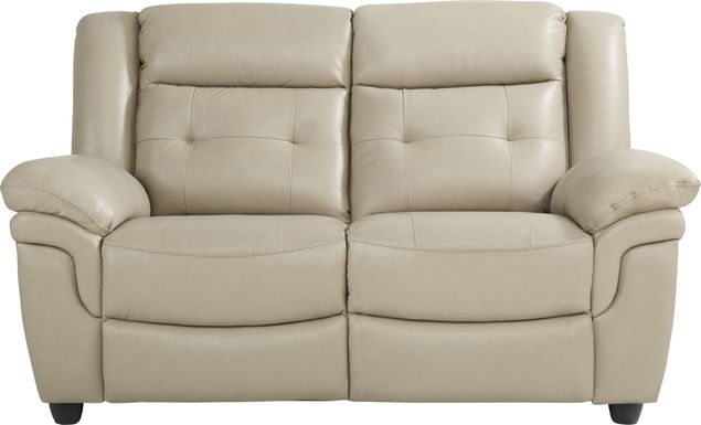 Ventoso Sand Leather Loveseat