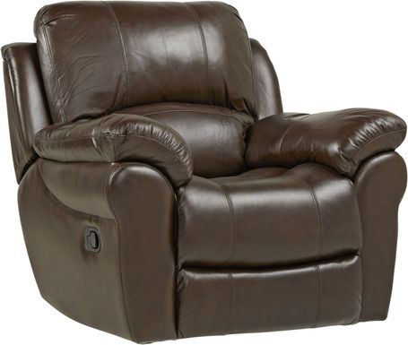 Vercelli Brown Leather Rocker Recliner