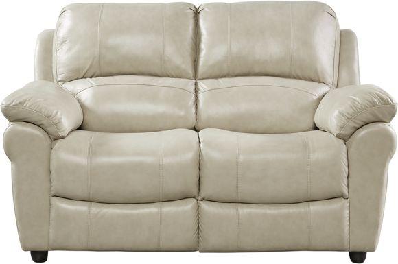 Vercelli Stone Leather Loveseat