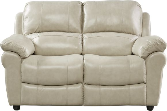 Vercelli Stone Leather Loveseat