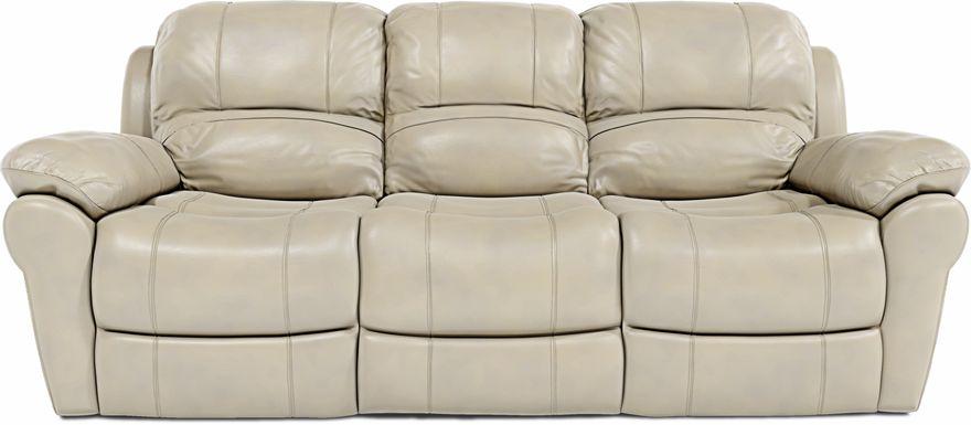 Vercelli Stone Leather Power Reclining Sofa