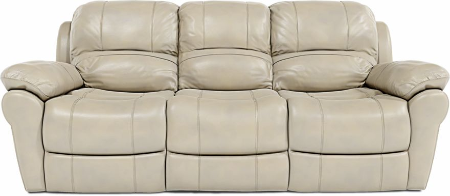 Vercelli Stone Leather Reclining Sofa