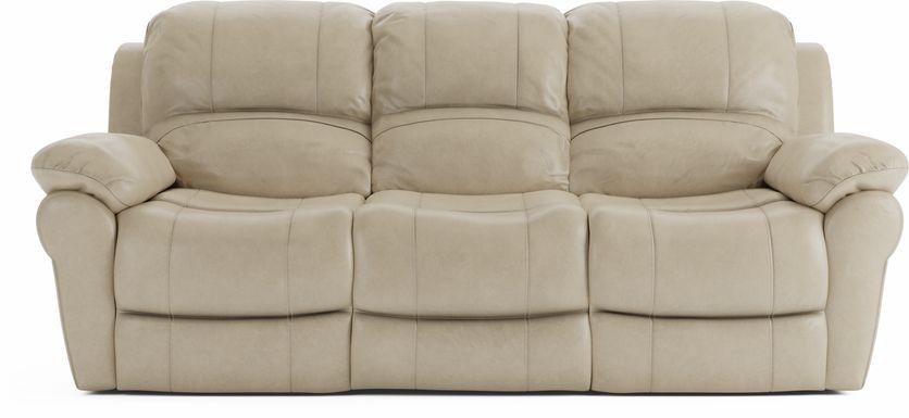 Vercelli Stone Leather Reclining Sofa