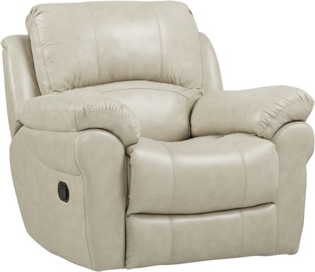 Vercelli Stone Leather Rocker Recliner