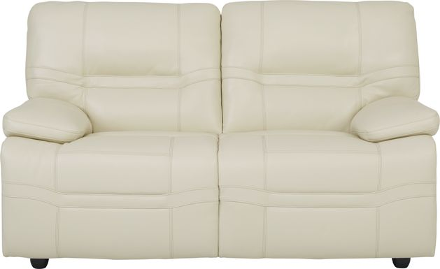 Vernazza Beige Leather Loveseat