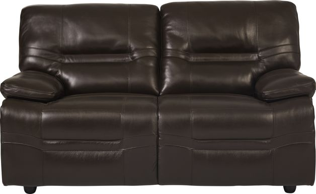 Vernazza Chocolate Leather Loveseat