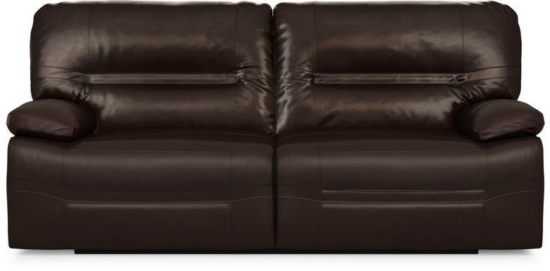Vernazza Chocolate Leather Reclining Sofa