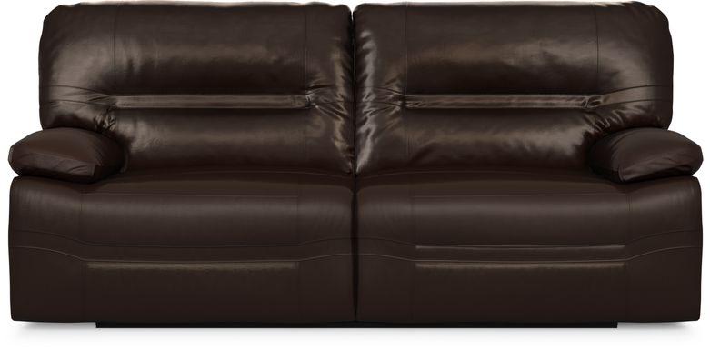 Vernazza Chocolate Leather Power Reclining Sofa