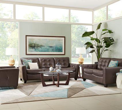 Via Rosano Coffee 7 Pc Leather Living Room