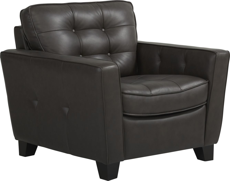 Via Rosano Coffee Leather Chair