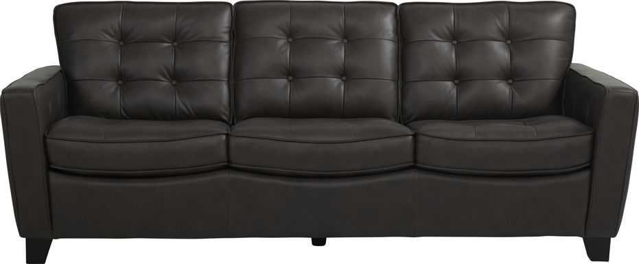 Via Rosano Coffee Leather Sofa