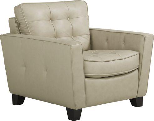 Via Rosano Latte Leather Chair