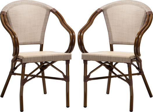 Viados Beige Dining Chair, Set of 2
