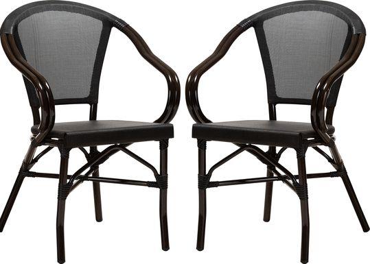 Viados Black Dining Chair, Set of 2