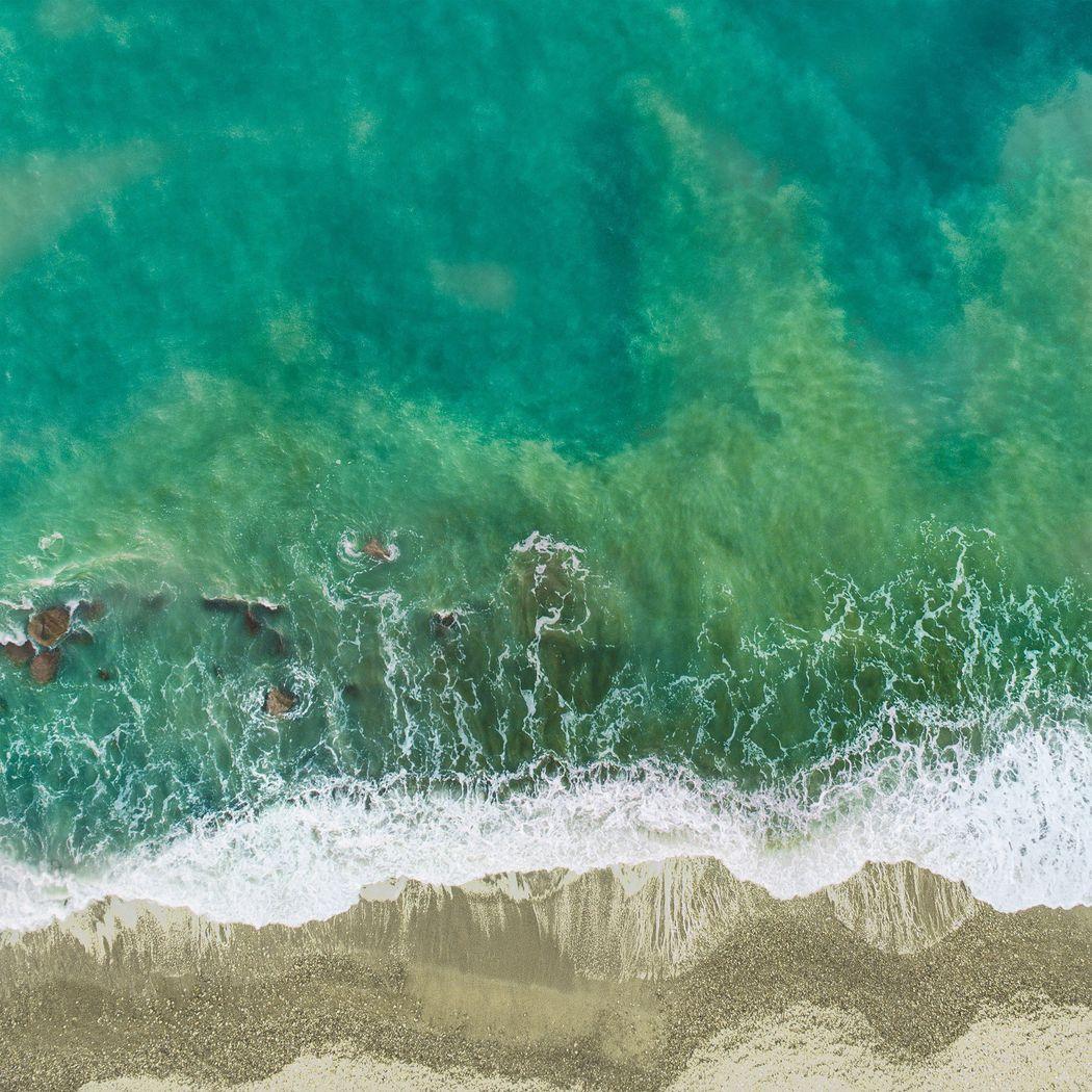 Vibrant Shoreline Blue Artwork