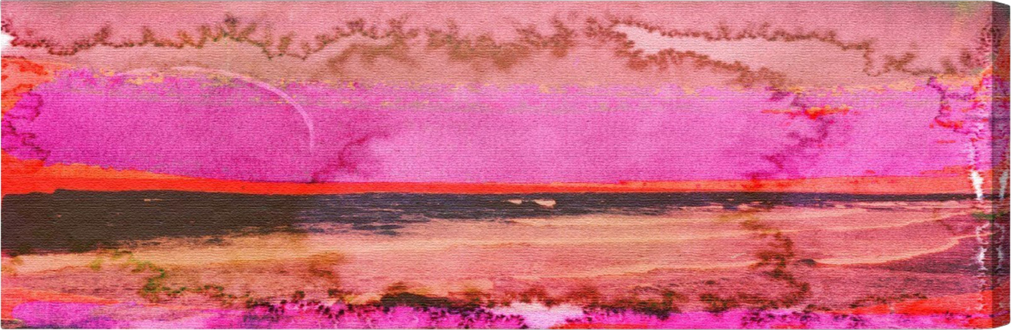 Vibrant Shoreline Orange Artwork