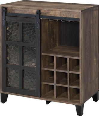 Vichenci Brown Wine Cabinet