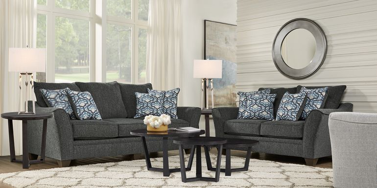 Victoria Park Gunmetal 5 Pc Living Room