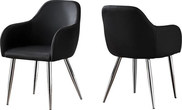 Vietor Black Chrome Arm Chair