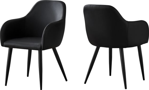 Vietor Black Arm Chair