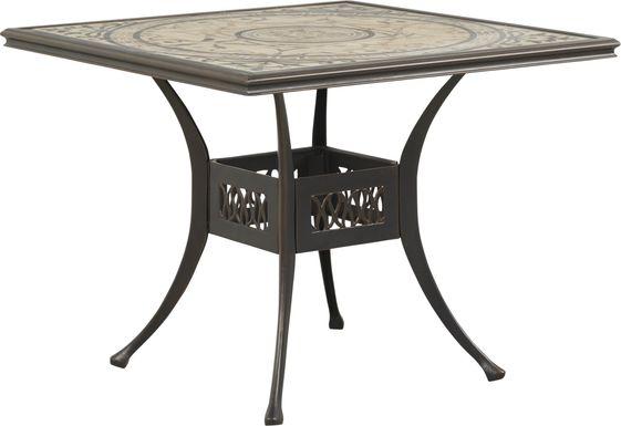Villa Park Bronze Outdoor Square Dining Table