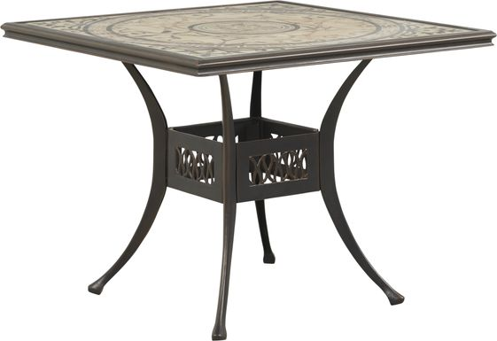 Villa Park Bronze Outdoor Square Dining Table