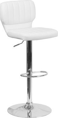 Vinnie White Adjustable Swivel Barstool