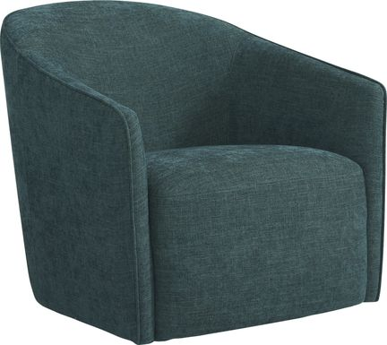 Vista Ridge Teal Swivel Chair
