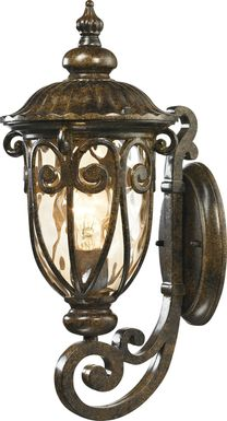 Wadsbury Brown Small Outdoor Wall Sconce