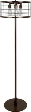 Wadsworth Antique Brown Floor Lamp