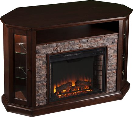 Wakerobin Espresso 52 in. Console with Electric Fireplace