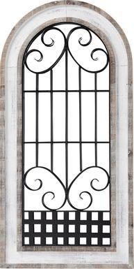 Waldane White Wall Mirror