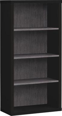 Wampton Black Bookcase