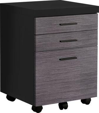 Wampton Black File Cabinet