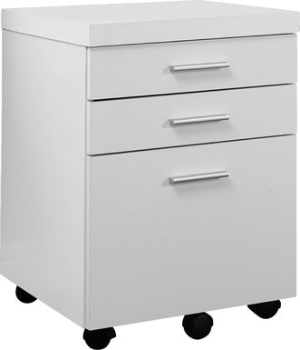 Wampton White File Cabinet