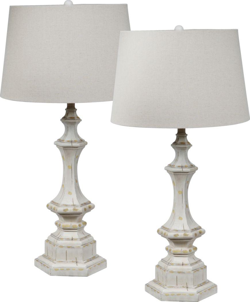 Wanklyn White Lamp, Set of 2