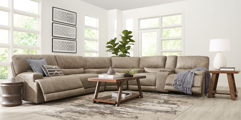 Warrendale Beige 3 Pc Power Reclining Sectional