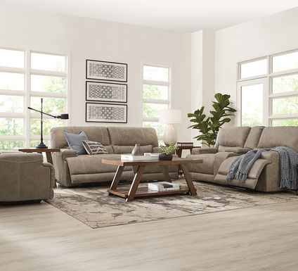 Warrendale Beige 5 Pc Power Reclining Living Room