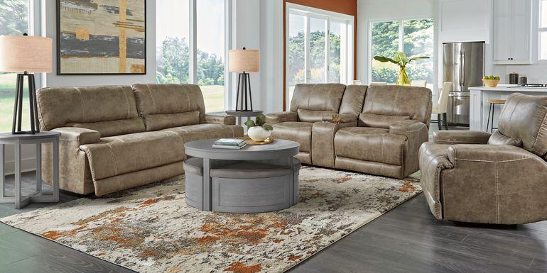 Warrendale Beige 8 Pc Power Reclining Living Room