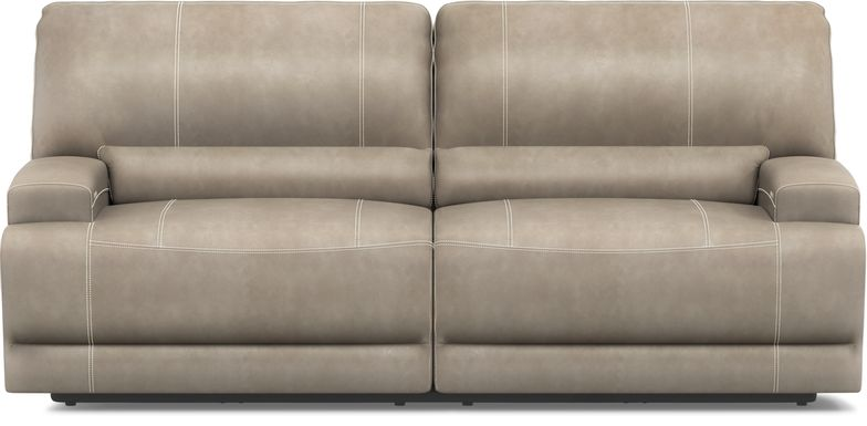 Warrendale Beige Power Reclining Sofa