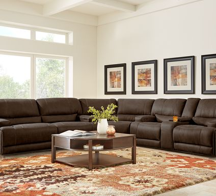 Warrendale Chocolate 3 Pc Power Reclining Sectional