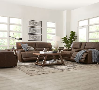Warrendale Chocolate 5 Pc Power Reclining Living Room