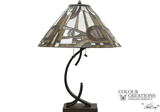 Water Oak Brown Lamp