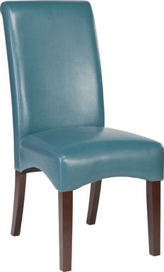Watercolor Aqua Side Chair