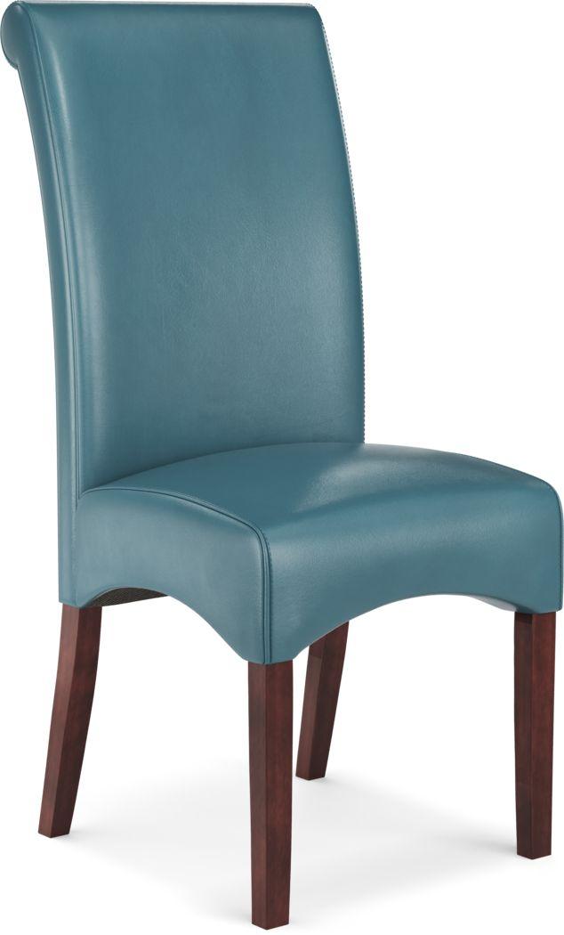 Watercolor Aqua Side Chair