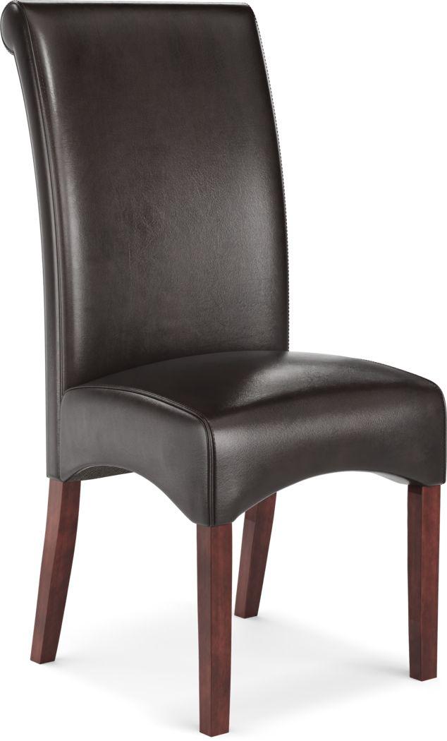 Watercolor Brown Side Chair