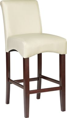Watercolor Ivory Barstool