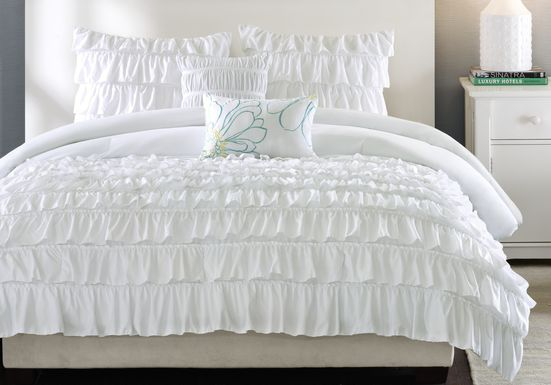 Waterfall Valley White 5 Pc Full/Queen Bed Set