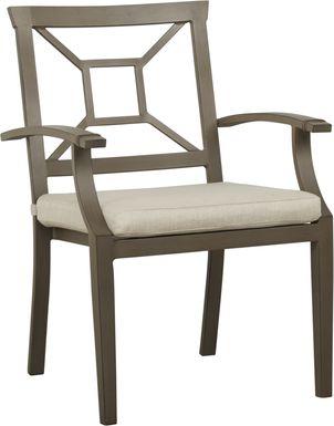 Waterfront Bronze Outdoor Arm Chair