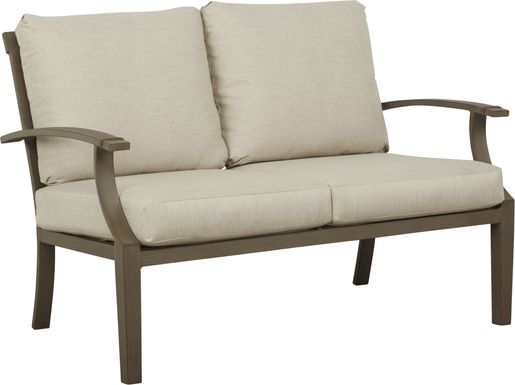 Waterfront Bronze Outdoor Loveseat